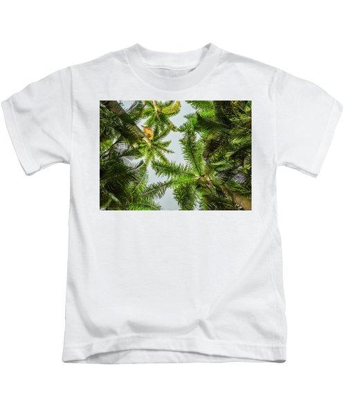 Palm Trees And Blue Sky Kids T-Shirt