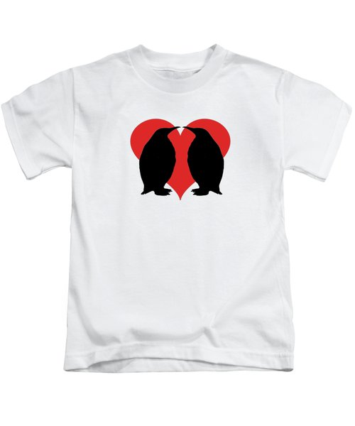 Penguins Kids T-Shirt by Mordax Furittus