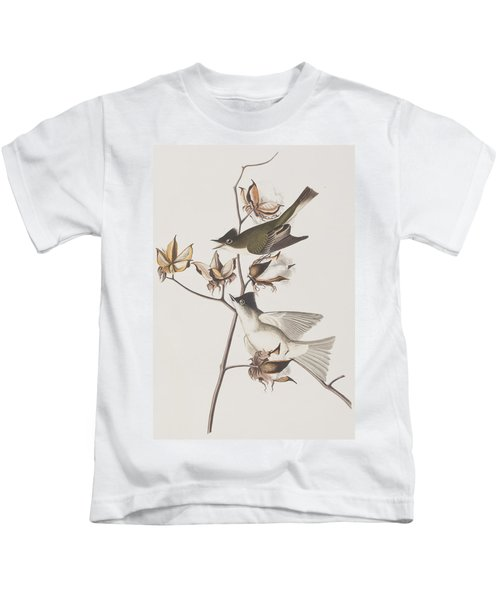 Pewit Flycatcher Kids T-Shirt by John James Audubon