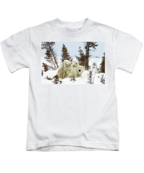 Polar Bear Ursus Maritimus Trio Kids T-Shirt