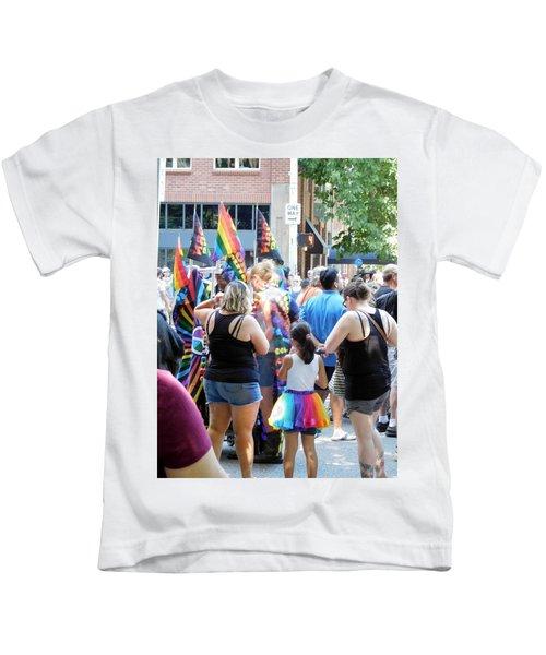Rainbow Girl Kids T-Shirt