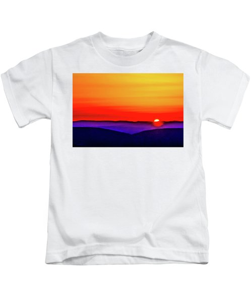 Shenandoah Valley Sunset Kids T-Shirt