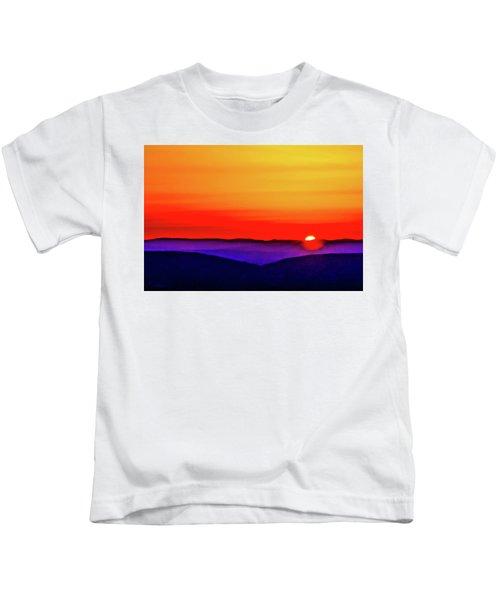 Shenandoah Valley Sunset Kids T-Shirt