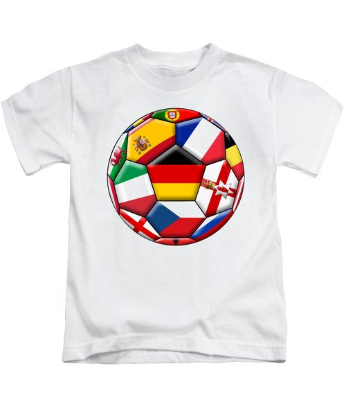 Soccer Ball With Flag Of German In The Center Kids T-Shirt