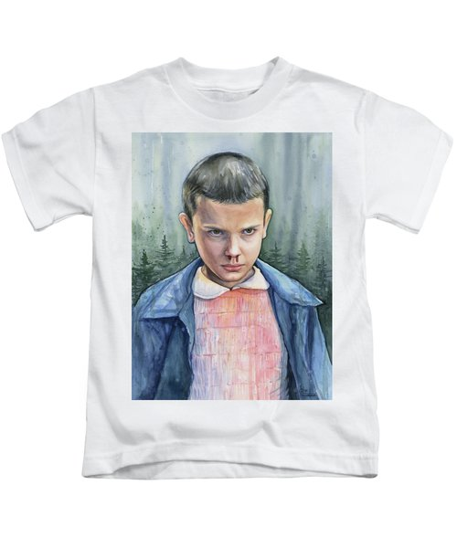 Stranger Things Eleven Portrait Kids T-Shirt