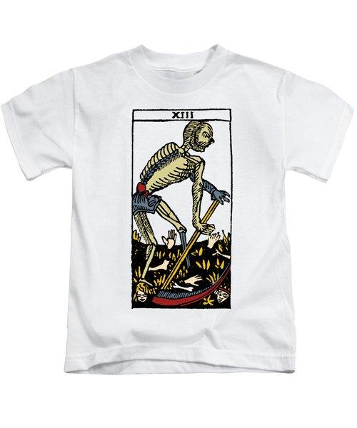 Tarot Card Death Kids T-Shirt
