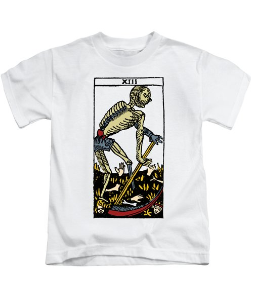 Tarot Card Death Kids T-Shirt