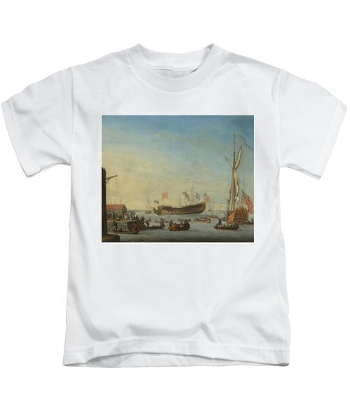 The Launch Of A Man Of War Kids T-Shirt