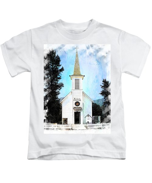 The Little White Church In Elbe Kids T-Shirt
