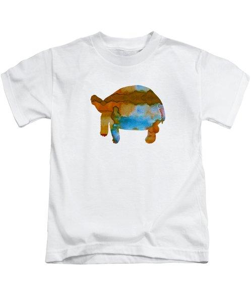 Tortoise Kids T-Shirt by Mordax Furittus