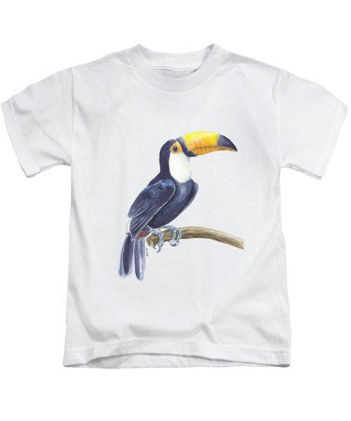 Toucan, Tropical Bird Kids T-Shirt by Katerina Kirilova