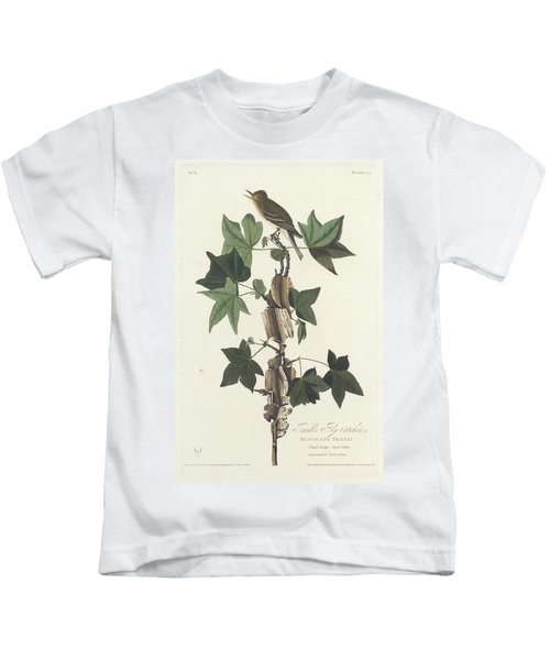 Traill's Flycatcher Kids T-Shirt by John James Audubon
