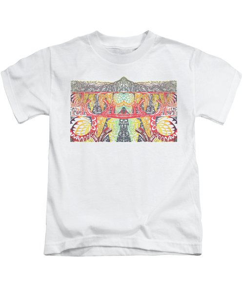 Tribal Mountain Kids T-Shirt
