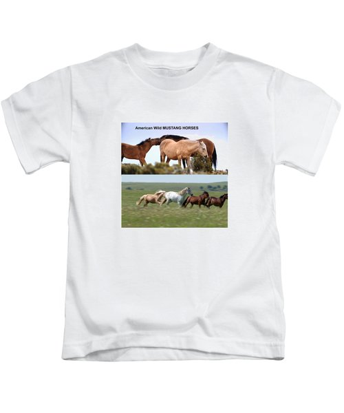 Twin Photos Awesome North American Mustangs Horses Cowboys Photography See On Posters Pillows Curtai Kids T-Shirt