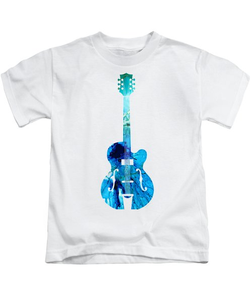 Vintage Guitar 2 - Colorful Abstract Musical Instrument Kids T-Shirt