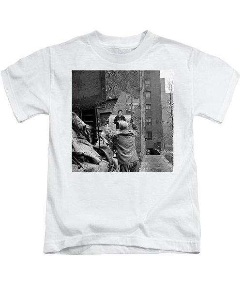 Vivian Maier Self Portrait Probably Taken In Chicago Illinois 1955 Kids T-Shirt