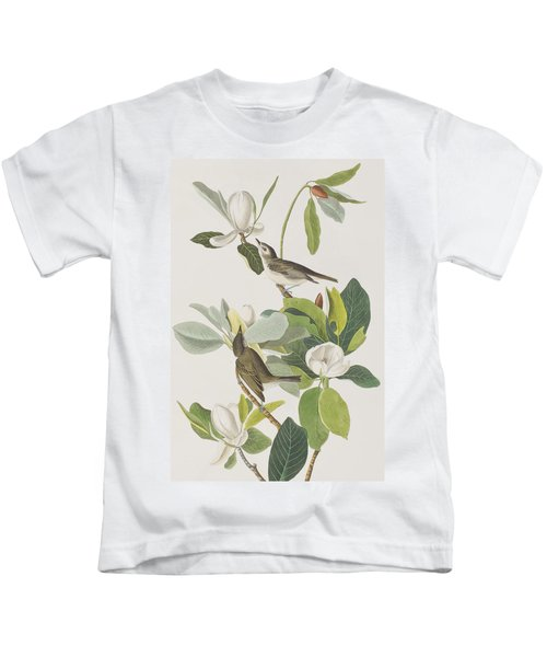 Warbling Flycatcher Kids T-Shirt by John James Audubon