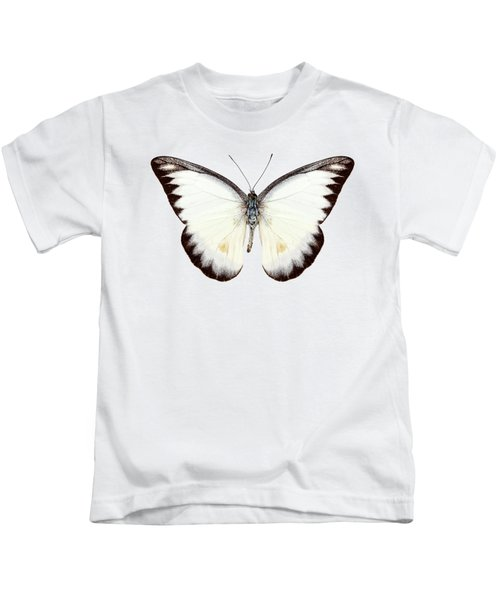 White Butterfly Species Appias Lyncida Kids T-Shirt