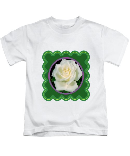 White Rose Flower Floral Posters Photography And Graphic Fusion Art Navinjoshi Fineartamerica Pixels Kids T-Shirt