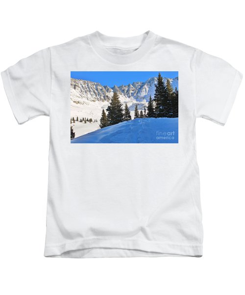 Winter At 12,000 Feet Kids T-Shirt