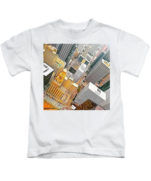 Yesterday's #birdseyeview Of #downtown Kids T-Shirt