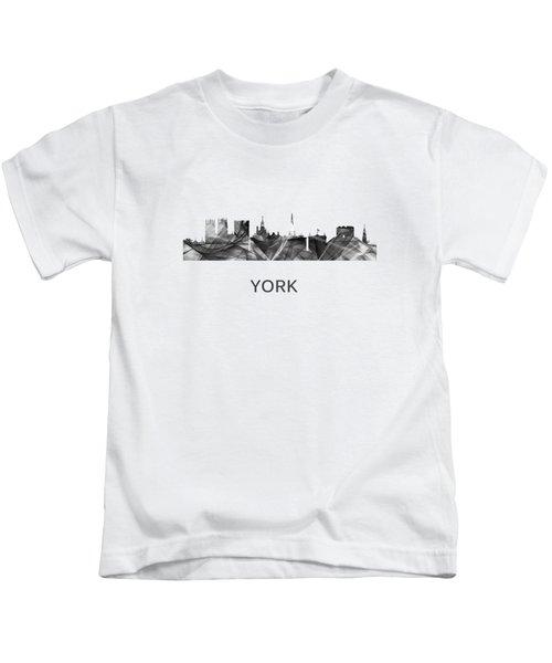 York Skyline England Kids T-Shirt