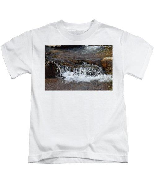 Waterfall Westcliffe Co Kids T-Shirt