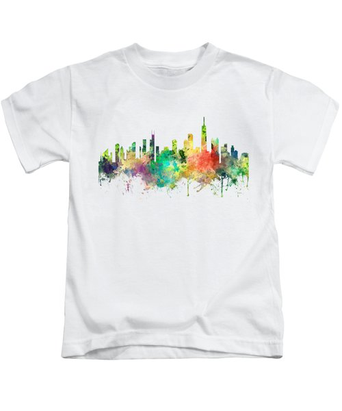 Chicago Illinois Skyline Kids T-Shirt by Marlene Watson