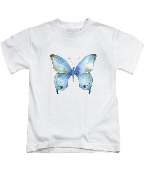#109 Blue Diana Butterfly Kids T-Shirt