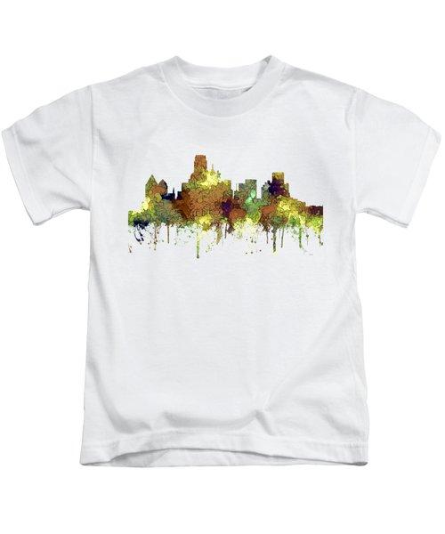 Dallas Texas Skyline Kids T-Shirt