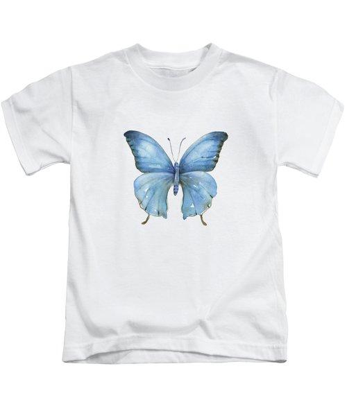 111 Blue Elijah Butterfly Kids T-Shirt