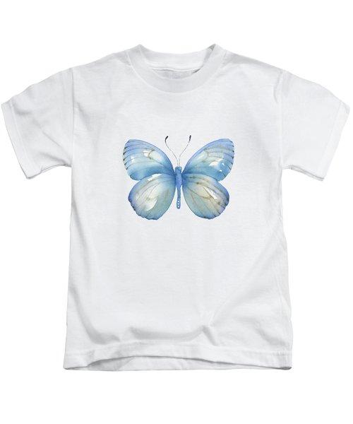 112 Blue Marcia Butterfly Kids T-Shirt