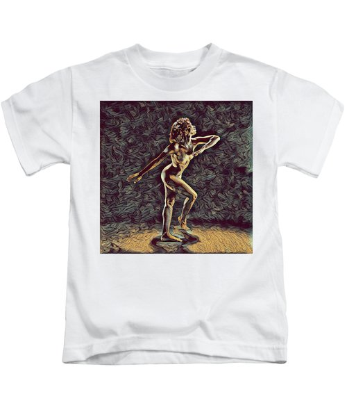 1192s-zac Nudes In The Style Of Antonio Bravo  Kids T-Shirt
