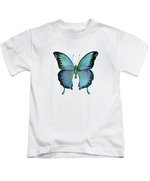 12 Blue Emperor Butterfly Kids T-Shirt
