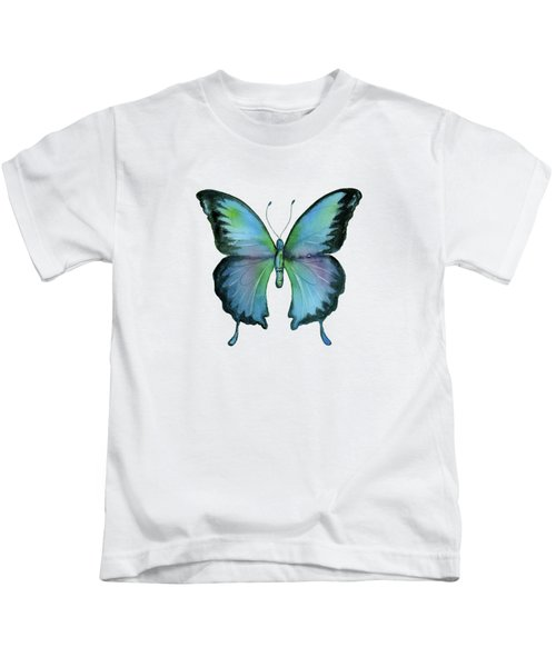 12 Blue Emperor Butterfly Kids T-Shirt