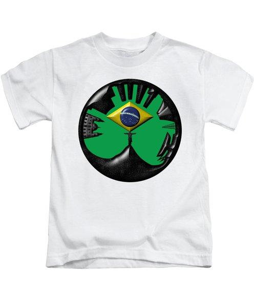 Rio De Janeiro Skyline Kids T-Shirt