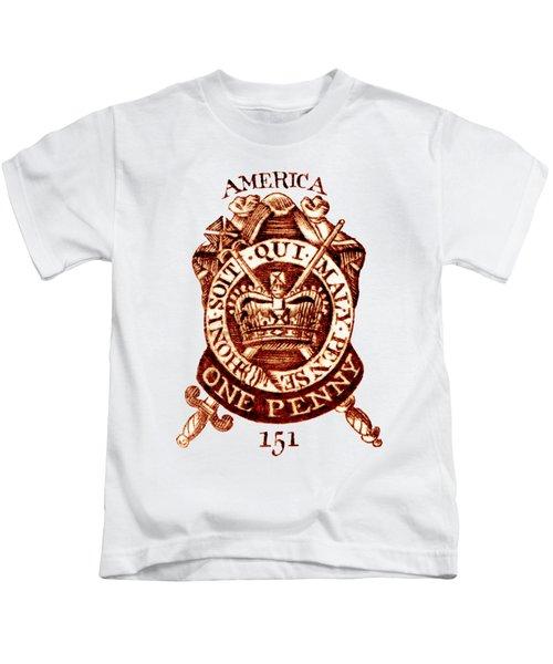 1765 American Tax Stamp Kids T-Shirt