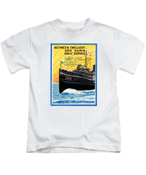 1910 Detroit To Buffalo Steamship Kids T-Shirt