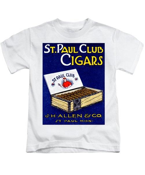 1910 St. Paul Club Cigars Kids T-Shirt