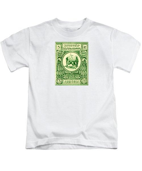 1920 Armenian Eagle 3r Stamp Kids T-Shirt