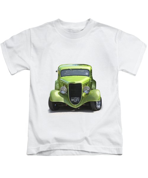 1934 Ford Street Hot Rod On A Transparent Background Kids T-Shirt