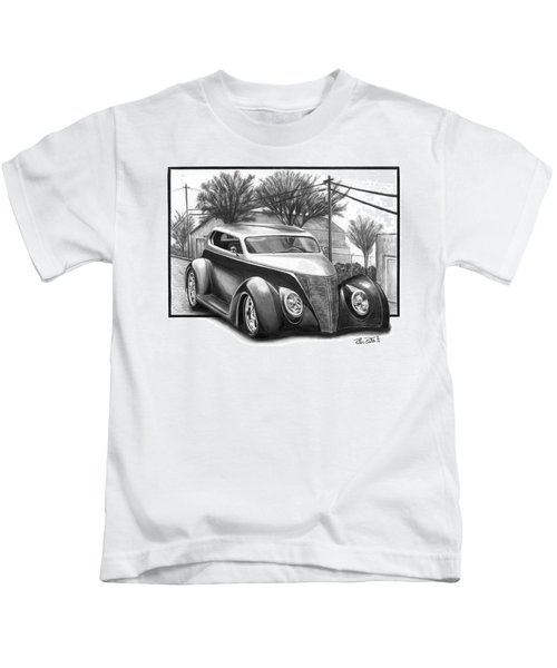 1937 Ford Sedan Kids T-Shirt