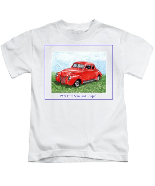 1939 Ford Standard Coupe Kids T-Shirt