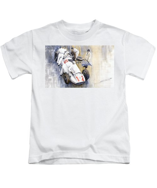 1939 German Gp Mb W154 Rudolf Caracciola Winner Kids T-Shirt