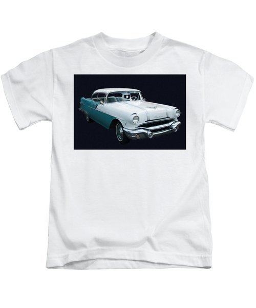 1956 Pontiac Star Chief Digital Oil Kids T-Shirt