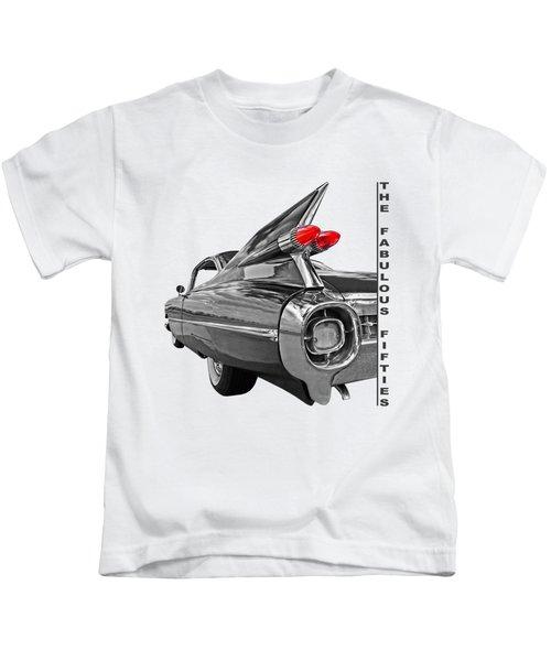 1959 Cadillac Tail Fins Kids T-Shirt by Gill Billington