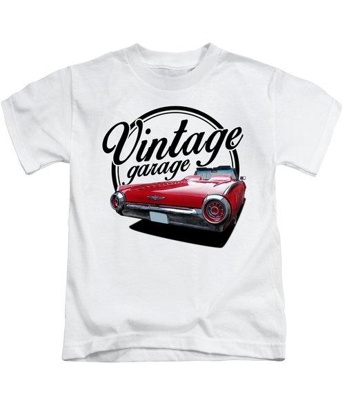 1960 Thunderbird Garage Kids T-Shirt