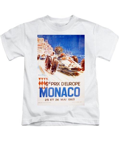 1963 F1 Monaco Grand Prix  Kids T-Shirt