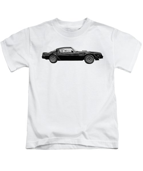 1978 Trans Am In Black And White Kids T-Shirt