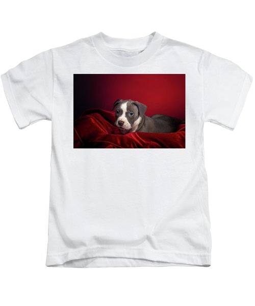 American Pitbull Puppy Kids T-Shirt